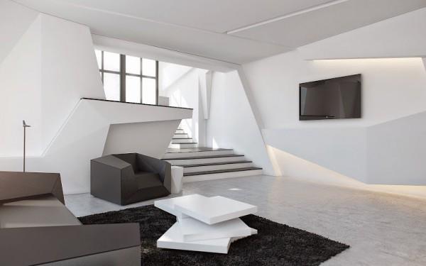 гостиная в стиле конструктивизм