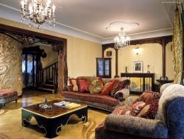 Гостиная в стиле модерн — утонченность, артистизм, близость к природе и изобилие ярких фото