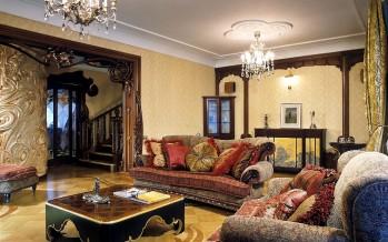 гостиная в стиле модерн в современной квартире или доме