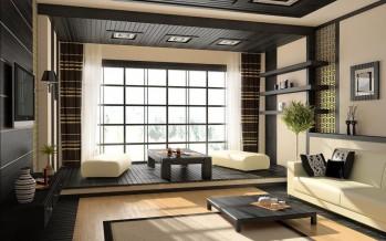 гостиная в японском стиле и другие восточные направления в интерьерной моде
