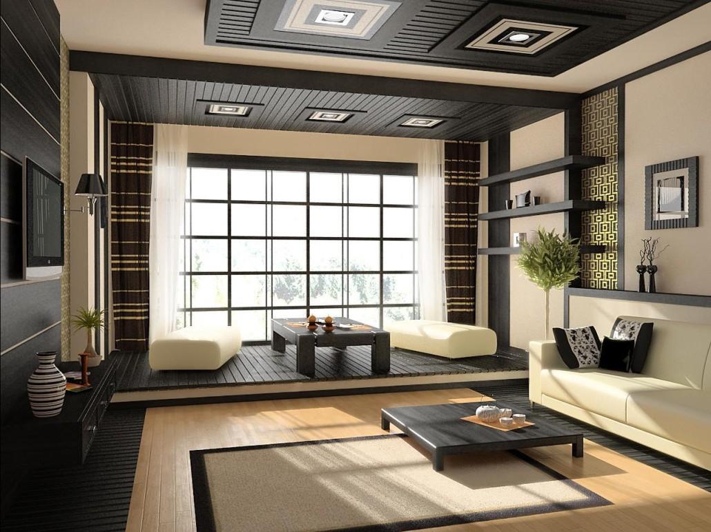 Японский и другие восточные стили в интерьере гостиной: основные акценты и разновидности