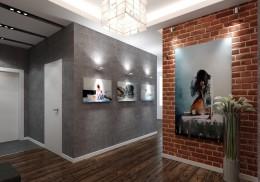 Прихожая в стиле лофт — не только вход в жилье богемы, но и уютный интерьер