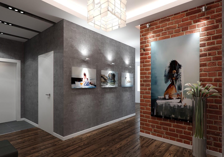 Прихожая в стиле лофт - не только вход в жилье богемы, но и уютный интерьер