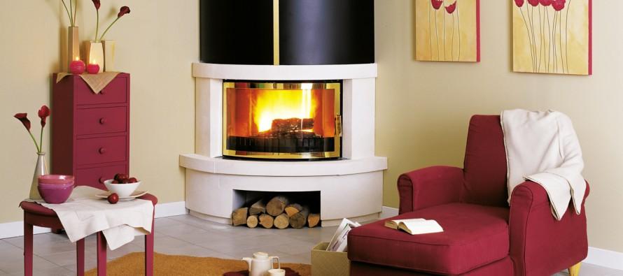 угловой камин в ярких фото для гостиной с угловым дизайном
