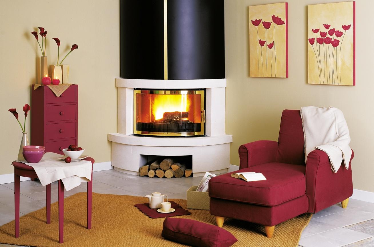 Угловые камины в интерьере гостиной - современные дизайнерские решения и обилие красочных фото