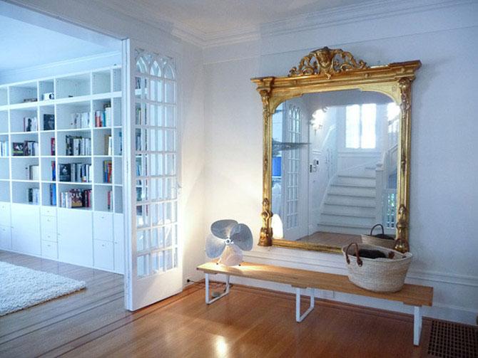 Зеркала в интерьере прихожей фото