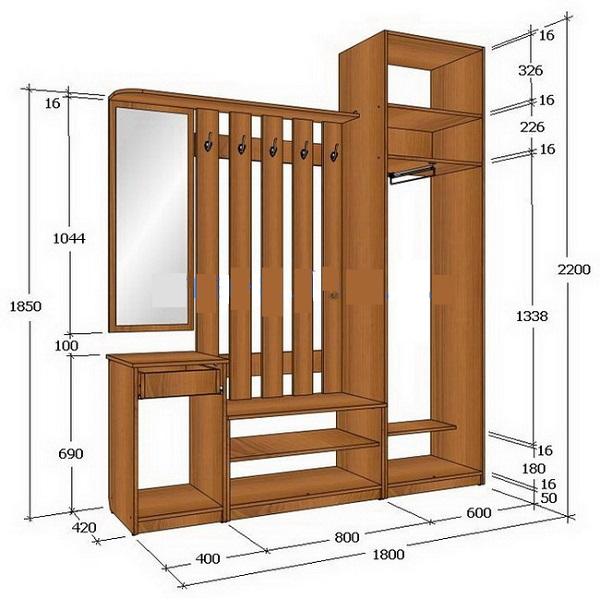 Мебель прихожие своими руками фото