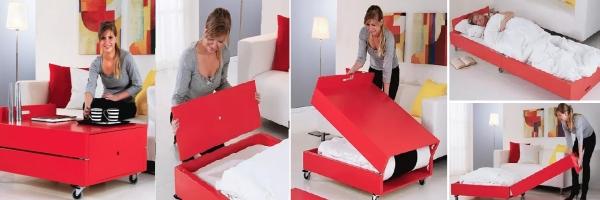 Журнальный столик, который превращается в кровать