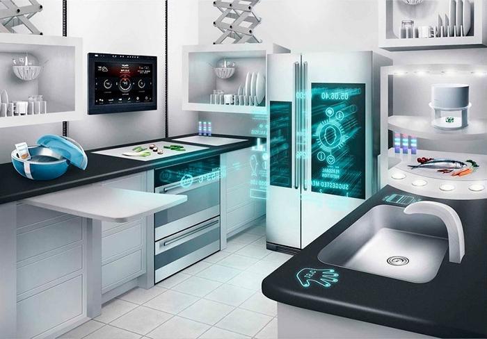 Красивые практичные кухни из будущего, которые обладают множеством уникальных и полезных функций