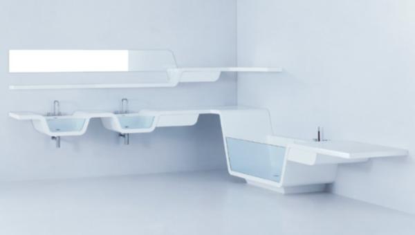 Простая, но многофункциональная мебель для ванной