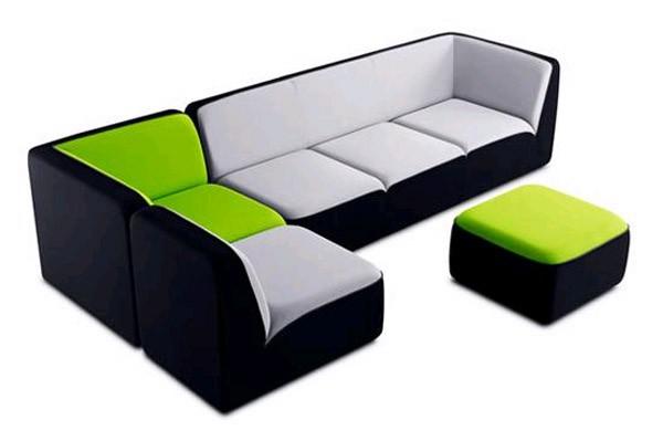 мягкий диван из модулей