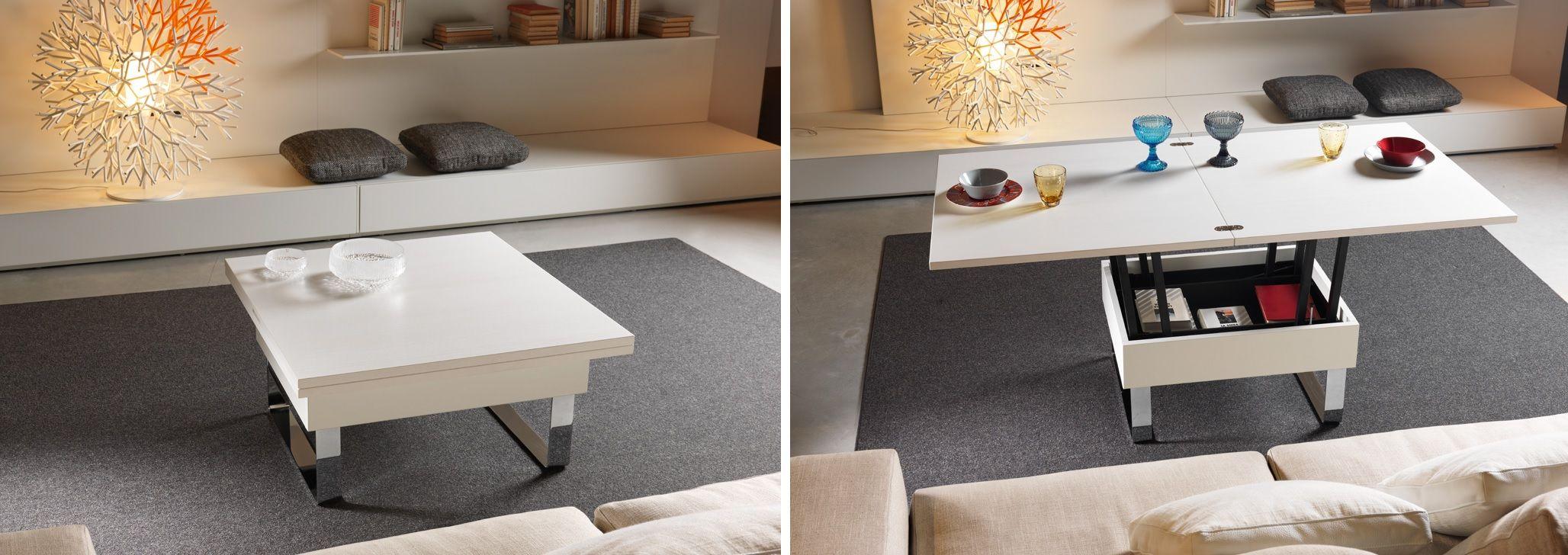 Журнальные столики-трансформеры - гибридная мебель, которая выполняет множество функций