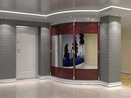 Радиусные шкафы в прихожей – необычный дизайн и отличная вместимость