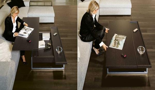 Раскладной кофейный столик который поможет секономить пространство
