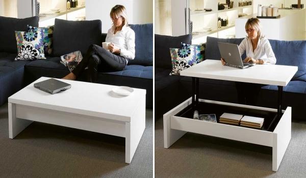 Столик который можно использовать в качестве рабочей поверхности