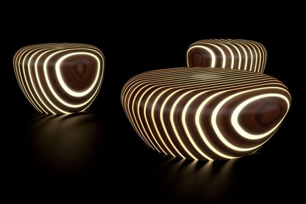 Необычная коллекция табуретов и журнальных столиков  Bright Wood
