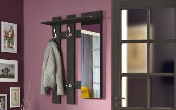 вешалка с зеркалом в прихожую в современном стиле