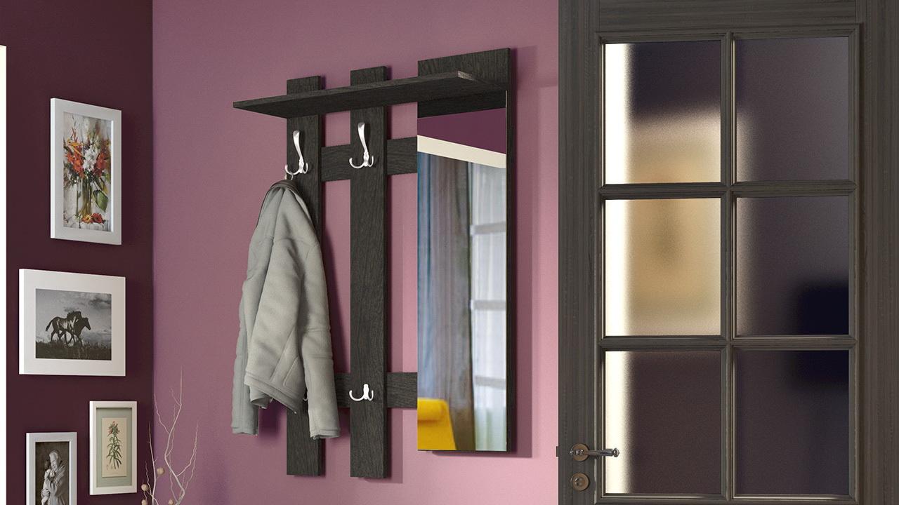 Вешалка с зеркалом в прихожую - удобно, красиво, функционально