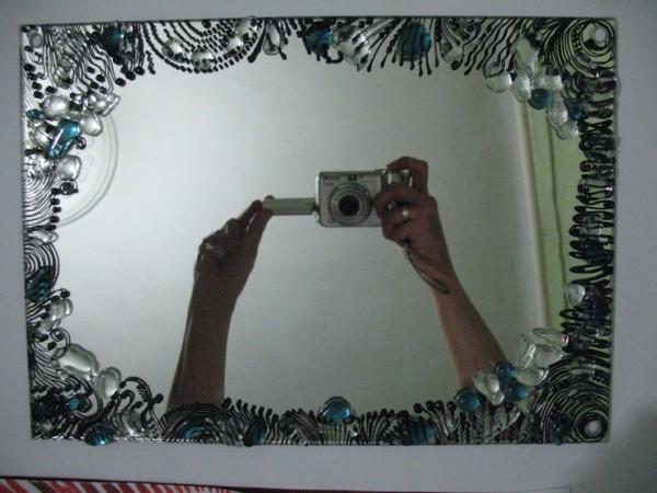 зеркало с узорами