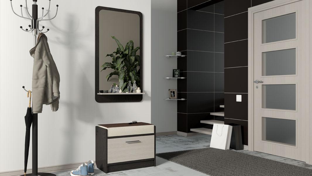 Зеркало с полкой в прихожую - разнообразие конструкционных и стилевых решений