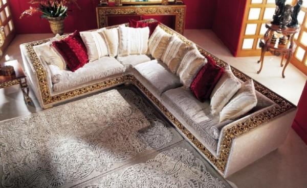 Барокко угловой диван