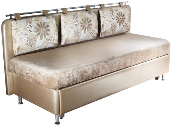 Фото прямого узкого дивана с ящиком на кухню