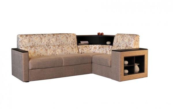 Фото углового дивана с угловыми полками