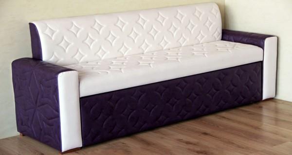 Кухонный прямой диван с ящиком