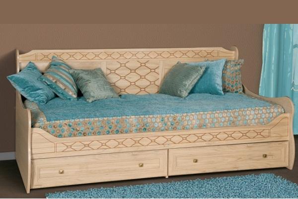 Двуспальная кровать с двумя матрасами купить в
