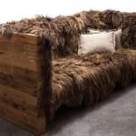 Long Wool Sofa