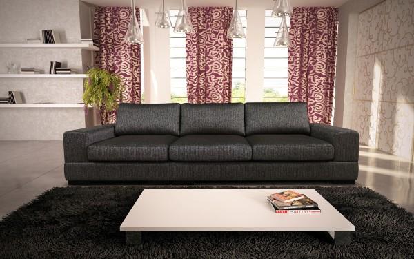 Стильный прямой диван монако