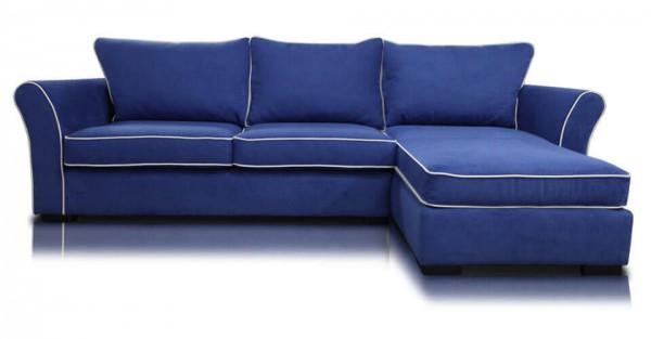 Угловой диван с мягкими подлокотниками