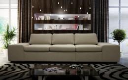 Мягкий прямой диван — неувядаемая классика, которая всегда будет уместна