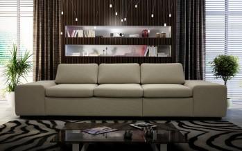 диван прямой со с широким подлокотником