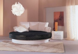 Круглый диван-кровать — удобное спальное место и оригинальное решение для гостиной