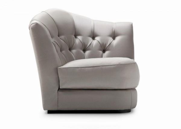угловое кресло кровать серое