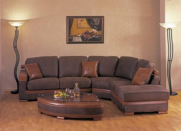 угловой диван с мягкой спинкой