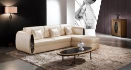 Угловой кожаный диван – олицетворение роскоши и комфорта в гостиной