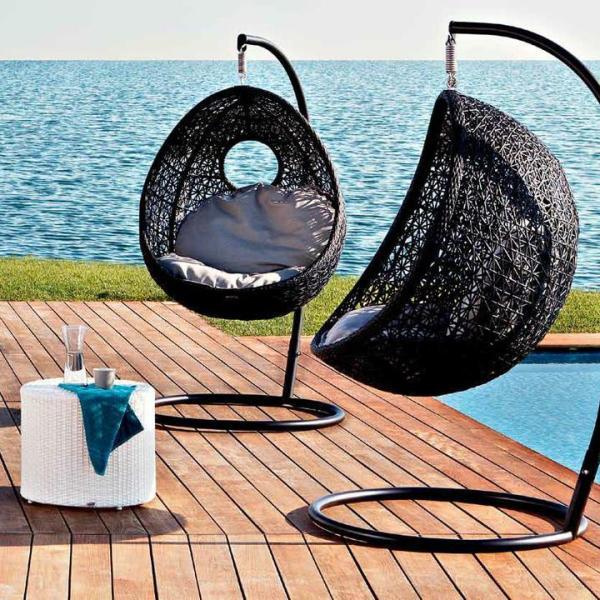 Плетеные подвесные кресла своими руками 20