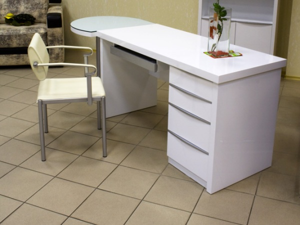 Письменный стол: белый, серый, черный, венге, глянцевый.