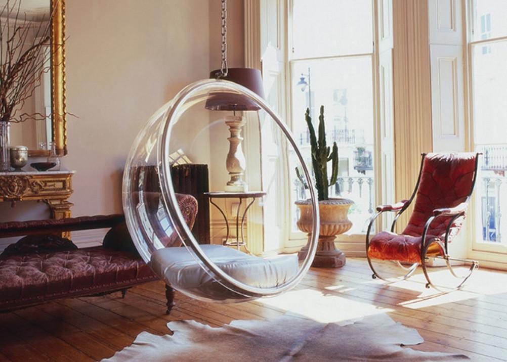 Подвесное кресло в интерьере – оригинальное и комфортное решение для жилища