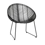 Черный кованый стул-кресло (на заказ)