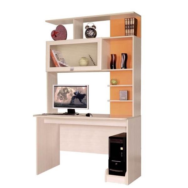 Купить компьютерный стол евро с надстройкой 1 - компьютерный.