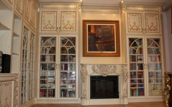 Фото книжных шкафов со стеклянными дверцами в россии