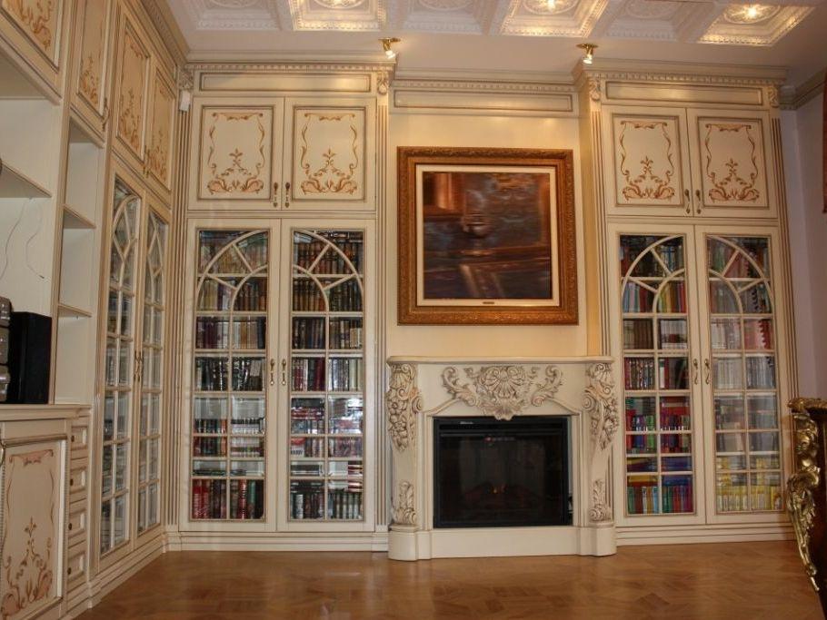 Книжные шкафы и библиотеки для дома от 7400 руб.