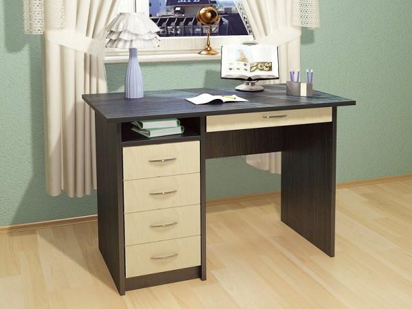 Фото письменного стола с полками и ящиками
