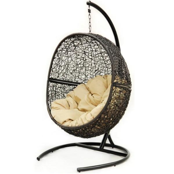 Фото подвесного кресла из ротанга