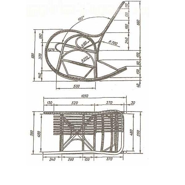 Чертежи кресла качалки из фанеры своими руками чертежи 58