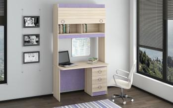 Компьютерный стол с надстройкой в спальню
