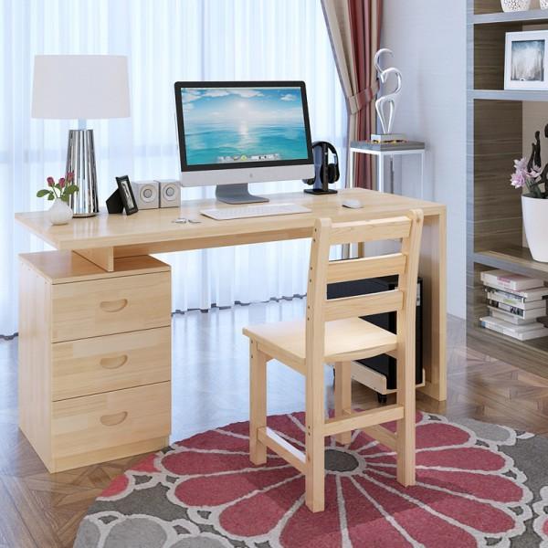 Компьютерный стол цвета сосны